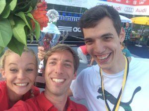 Neuzugänge Anne Klebsch und David Nopper zusammen mit ihrem Trainer Steffen Hertel (mitte) Bild: Steffen Hertel